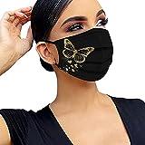Graceyo Mundschutz 50 Stück Mundbedeckung mit Motiv Bunt Damen Herren...