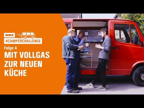 """OBI #camperchallenge: """"Mit Vollgas zur neuen Küche"""" (Folge 4 von 6)"""
