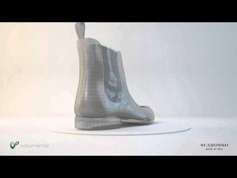 SCAROSSO bespoke shoe using 3D technology by Volumental