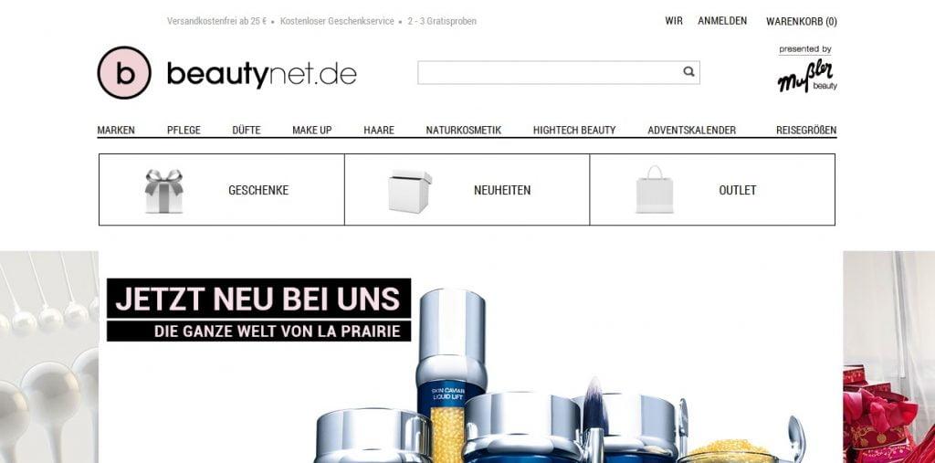 Zum Beautynet Shop