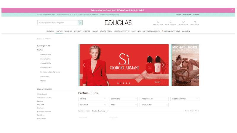 Zum Douglas Shop