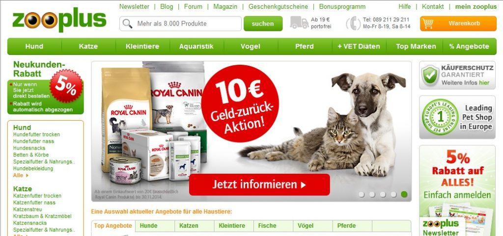 Zum Zooplus Shop