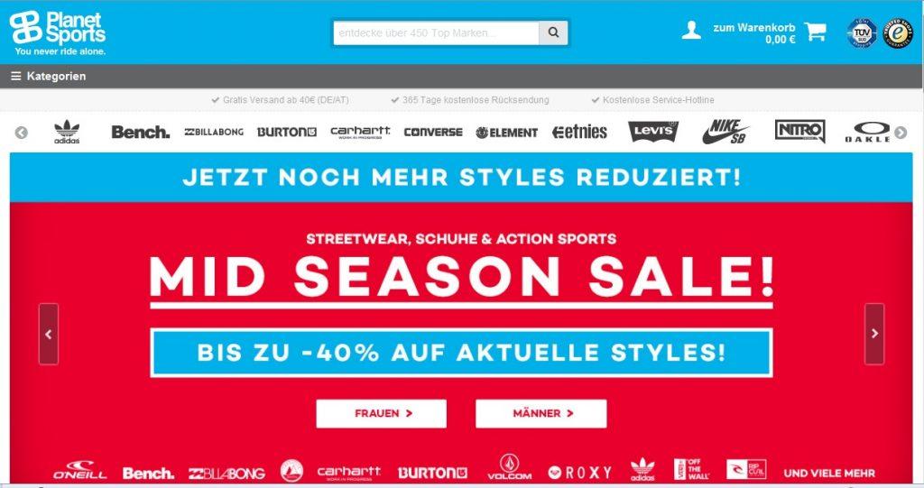 Zum planet-sports Shop