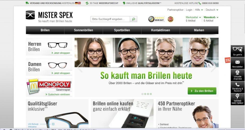 Zum Mister Spex Shop