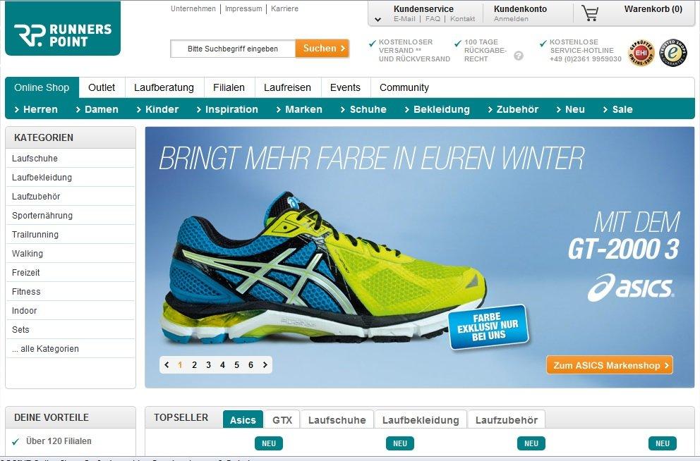 Zum Runnerspoint Shop