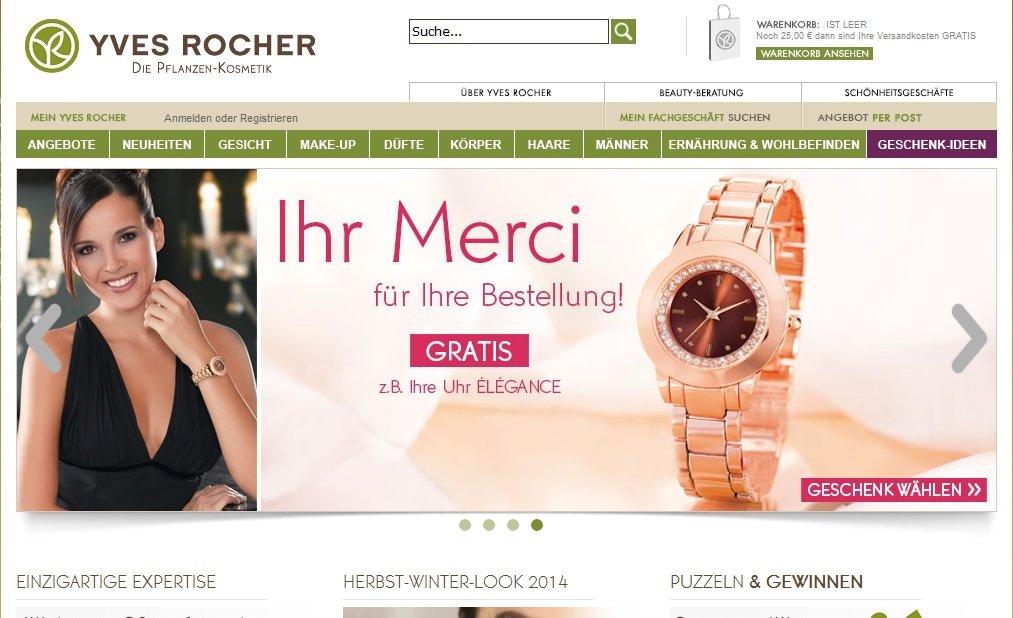 Zum Yves Rocher Shop
