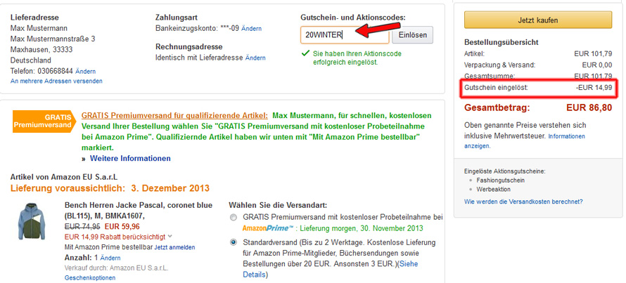 Amazon gutschein september 2019