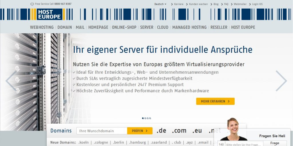 Zum Host Europe Shop