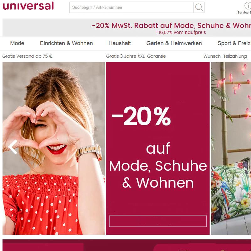 Universal.at Gutscheincode sichern   Universal.at Gutscheine