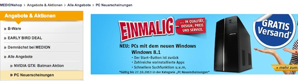 medion windows 8.1