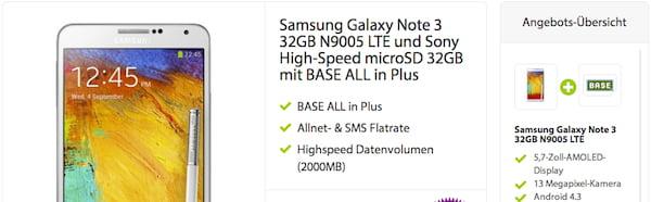 samsung galaxy note 3 getmobile gratis