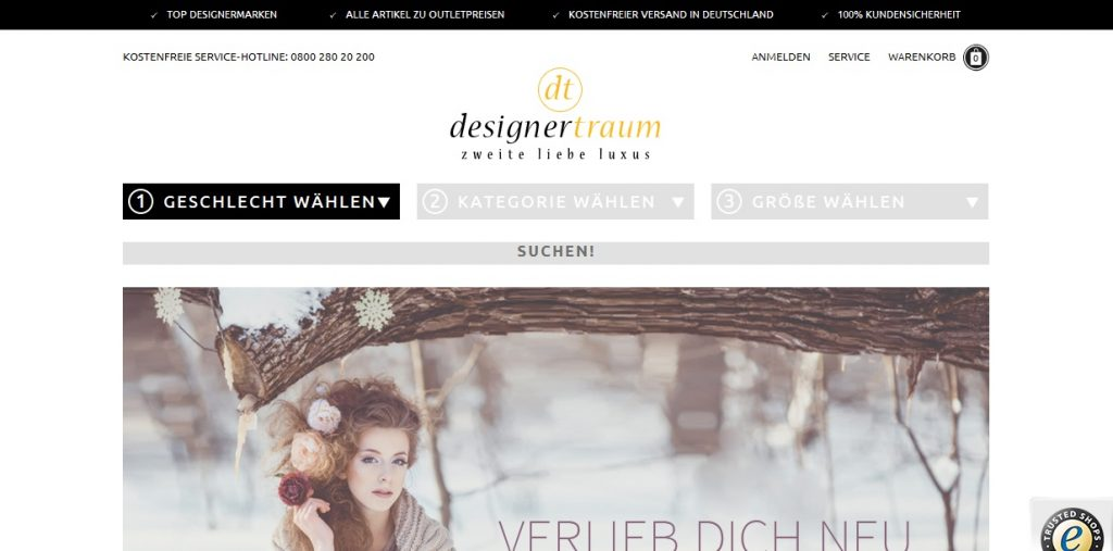 Zum Designertraum: Shop