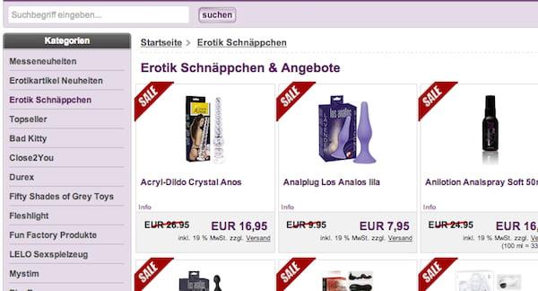 adultshop sale rabatt