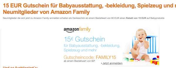amazon gutschein 15 prozent family