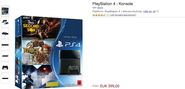 amazon ps4 bundle 399 euro
