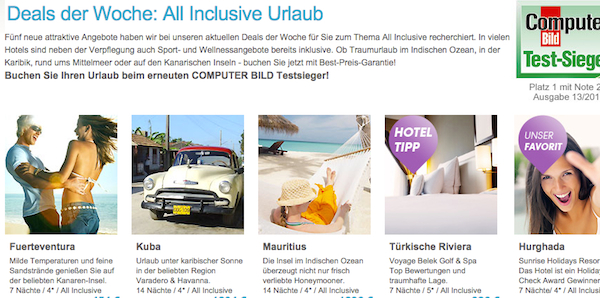 thomas cook deal der woche all inclusive