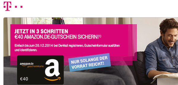 de mail amazon 40 euro gutschein
