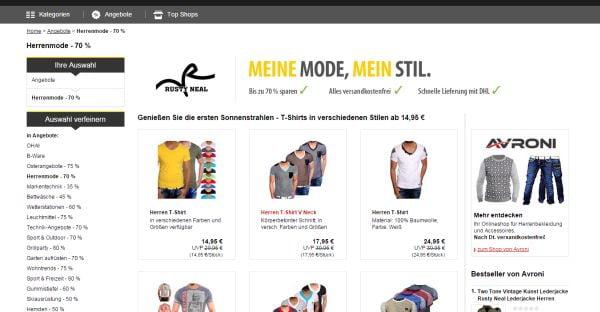 MeinPaket Herrenmode Sale