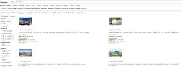 Amazon TV Schnäppchen