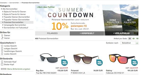 mister spex 10 prozent rabatt polarisierte sonnenbrillen