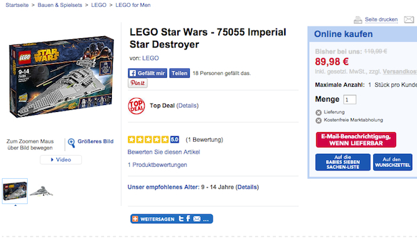 lego star wars rabatt imperial star destroyer toys r us