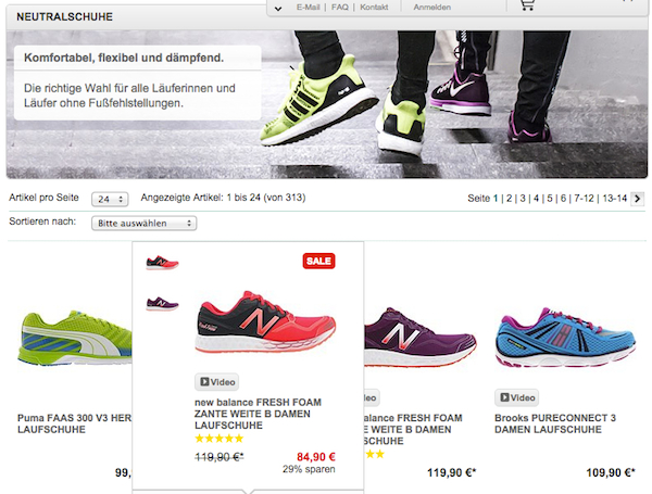 Runnerspoint sale bis zu 50 prozent rabatt for Koch 50 prozent