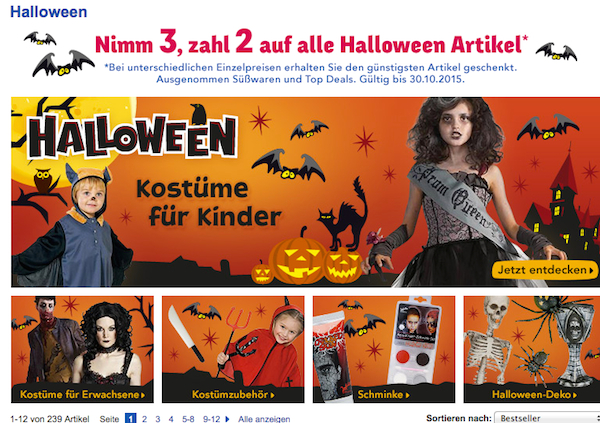 toysrus 3 für 2 halloween aktion