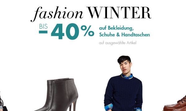 amazon fashion winter 40 prozent rabatt