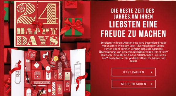the body shop beauty adventskalender
