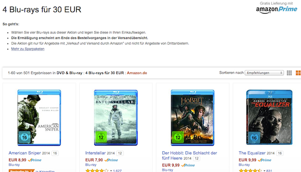 AMAZON GUTSCHEIN AKTION 30 EURO