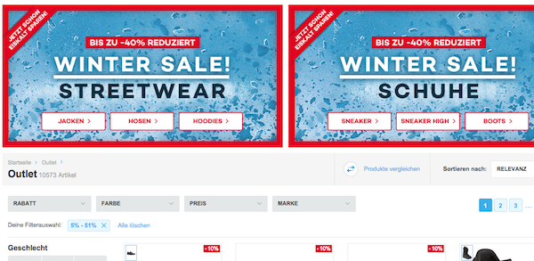 planet sports winter sale 40 prozent rabatt