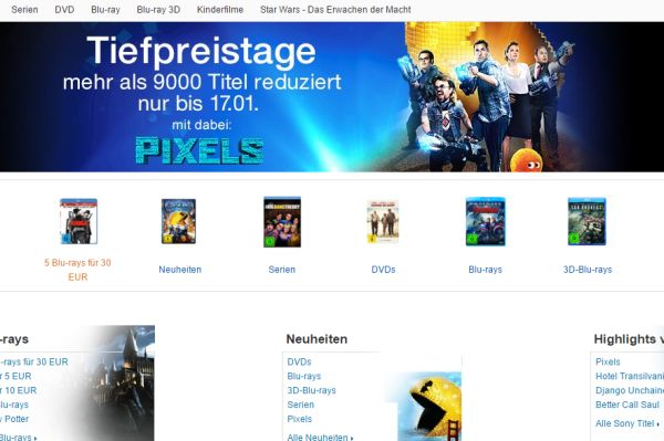 amazon tiefpreistage blu ray dvd