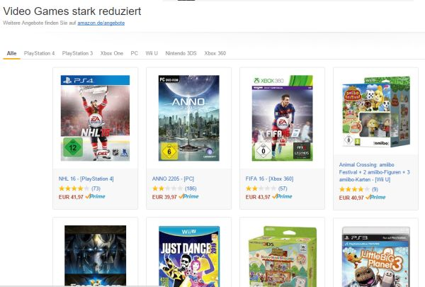 amazon videospiele rabatt