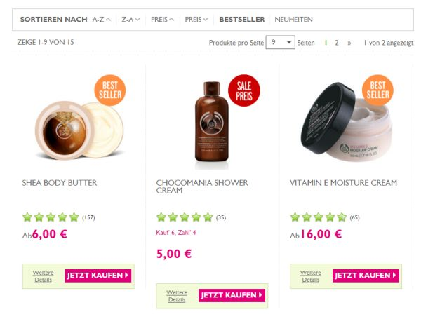 the body shop 20 prozent rabatt fast alles