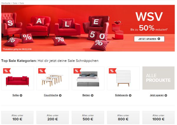 home24 wsv winter sale 50 prozent rabatt