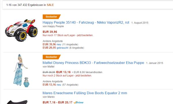amazon sale rabatt