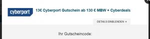 13-€-Cyberport Gutschein