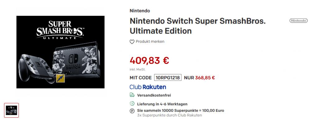 Nintendo-Switch-angebot-deal-rakuten