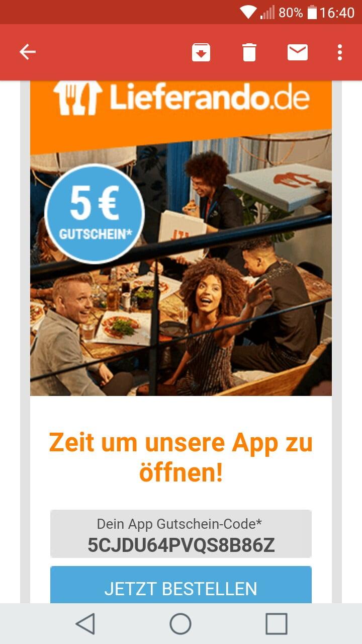 Lieferando Gutschein Oktober 20   20 Euro Gutschein